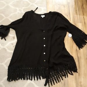 New swimsuitsforall Black Coverup Tunic. Sz 22/24